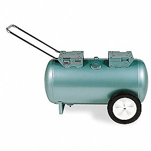 Steel ASME Code Air Tank, Green Metallic