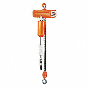 H3 Electric Chain Hoist, 4000 lb. Load Capacity, 115V, 15 ft. Lift, 8 fpm