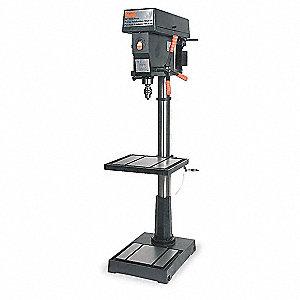dayton 1 motor hp floor drill press belt drive type 20. Black Bedroom Furniture Sets. Home Design Ideas