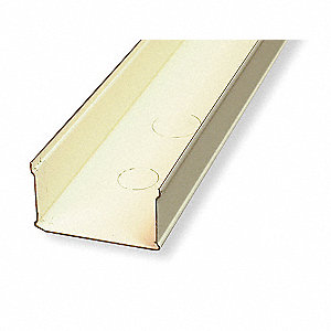 10 ft. 3000 Series Raceway, Steel, Ivory, Cover Type: Snap On