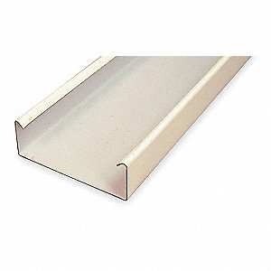 10 ft. 4000 Series Raceway, Steel, Ivory, Cover Type: Snap On