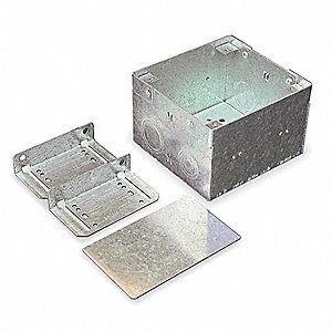 Steel In-Wall Box For Use With V6000 and G6000 Raceways, Gray
