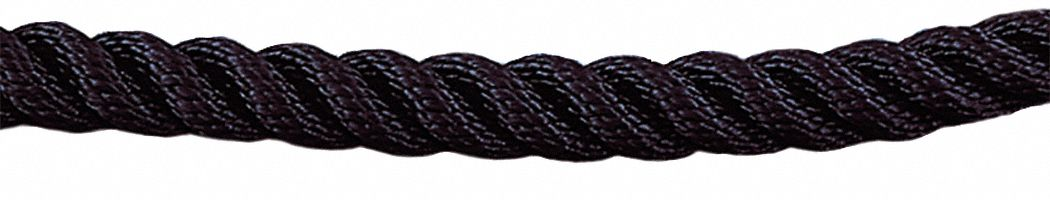 Twisted Classic Barrier Rope, Black Rope Color, Rope Ends Not Included End Style