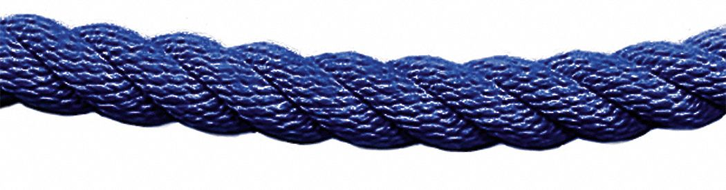 Twisted Classic Barrier Rope, Blue Rope Color, Rope Ends Not Included End Style