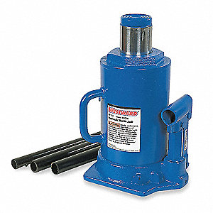 "8-1/8 x 6-7/8"" Side Pump   Bottle Jack with 30 tons Lifting Capacity"