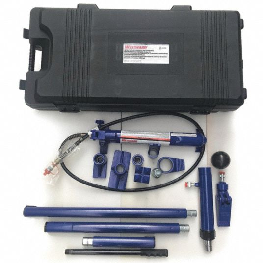 Body Repair Maintenance Set,  10 ton,  Cylinder Stroke 6 in,  Max. Pressure 10,000 psi