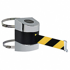 Belt Barrier, Chrome,Belt Yellow/Black