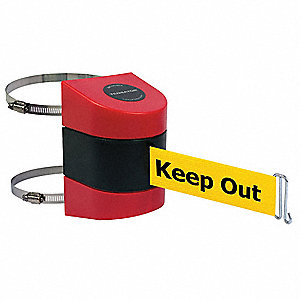 Retractable Belt Barrier, Yellow Belt With Black Writing, Danger - Keep Out