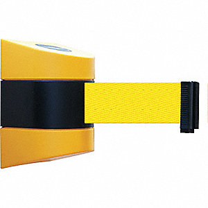 Retractable Belt Barrier, Yellow