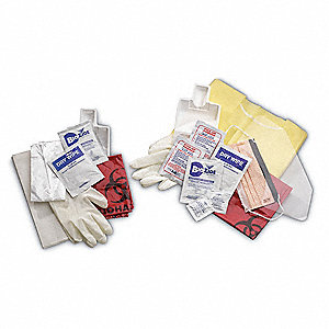 Biohazard Personal Protection Kit, Biohazard Bag, 1 EA