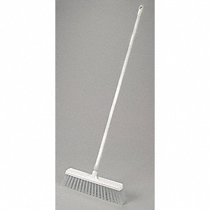 "Push Broom,Head and Handle,16"",White"