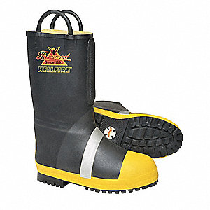 Men's Insulated Firefighter Boots, Size 12, Footwear Width: W, Footwear Closure Type: Pull On