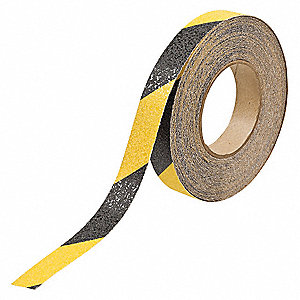 "60 ft. x 1"" Oxide Grit Antislip Tape, Black/Yellow"