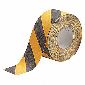"60 ft. x 3"" Oxide Grit Antislip Tape, Black/Yellow"