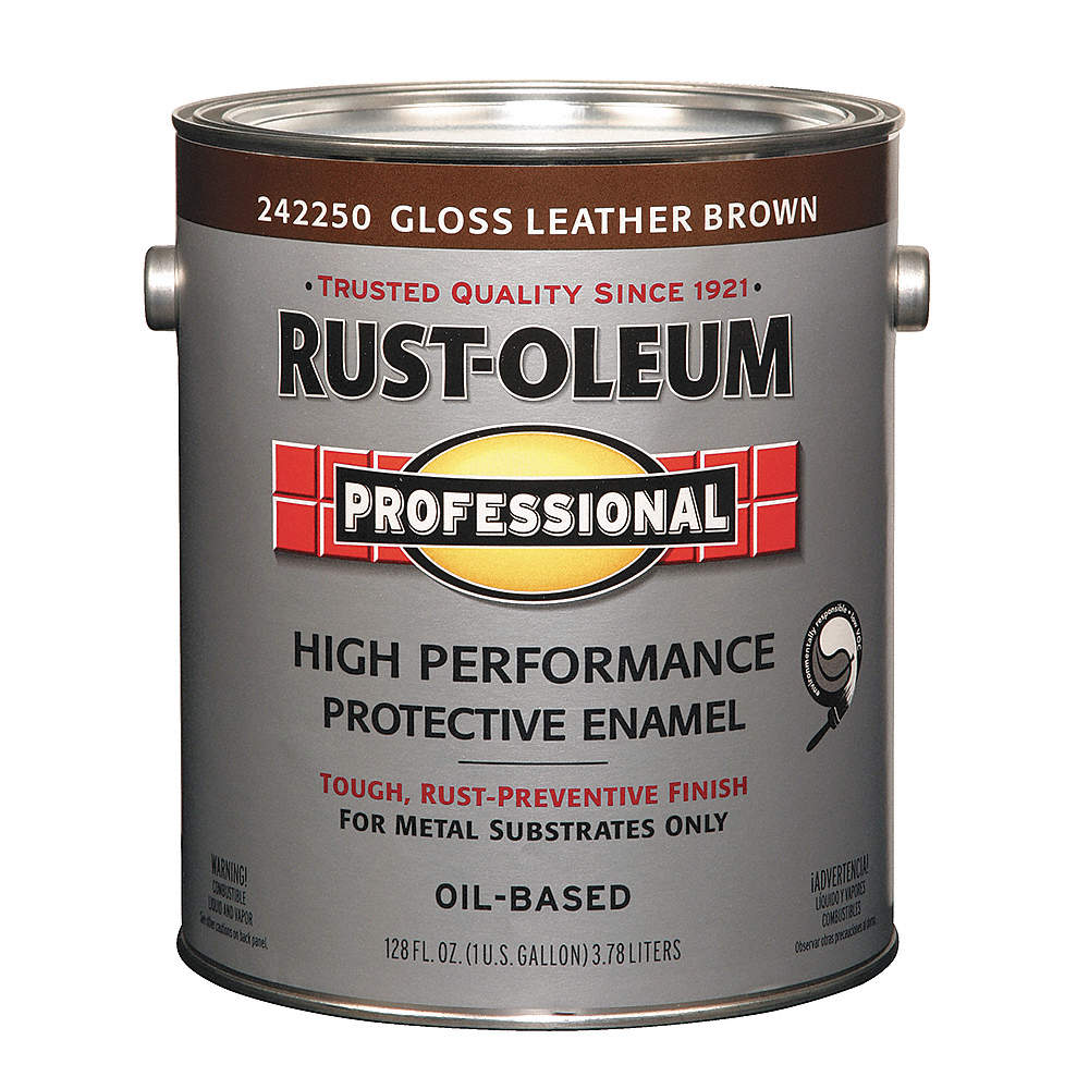 Gloss Interior Exterior Paint Oil Base Leather Brown 1 Gal