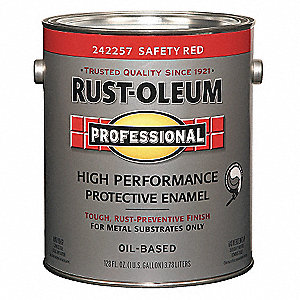 Gloss Safety Red Interior/Exterior Paint, 1 gal.
