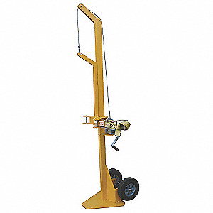 "Cylinder Lifting Dolly, Hand Winch Lift, 200 lbs., Overall Width 24"", Overall Length 36"""