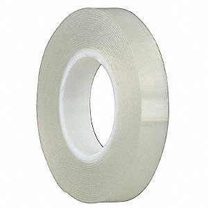 "1/2"" x 4 yd. Acrylic Foam Double Sided Removable Tape, 31 mil, Clear, 1EA"
