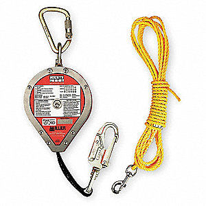 20 ft. Self-Retracting Lifeline with 400 lb. Weight Capacity, Red