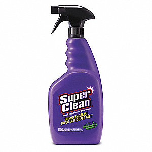 Cleaner/Degreaser, 32 oz. Spray Bottle, Unscented Liquid, Ready to Use, 1 EA