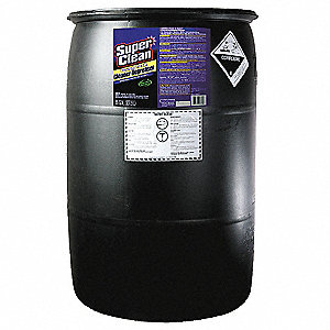 Cleaner/Degreaser, 55 gal. Drum, Unscented Liquid, Ready to Use, 1 EA