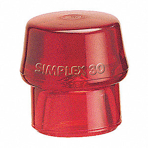 Hammer Tip,2 In,Medium Hard,Red