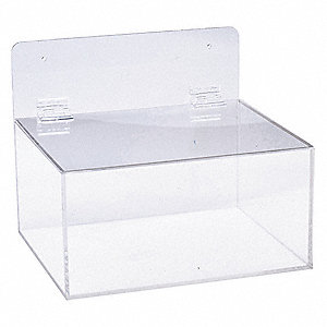"11-1/2"" x 9-1/2' x 9-1/2"" Arcylic All Purpose Dispenser, Clear"