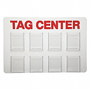 "Tag Center, Unfilled, 15-3/4"" x 23-1/2"""
