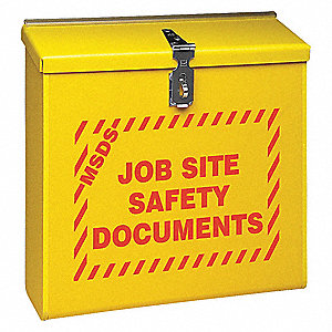 MSDS Cabinet,13-1/2 In. W,4-3/4 In. D