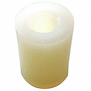 "1/2"" Nylon Round Standoff with   Finish, Natural&#x3b; PK10"