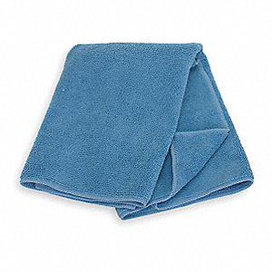 "Medium Duty Microfiber Cloth, Blue, 20"" x 20"", 6 PK"