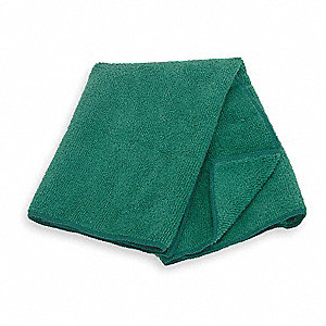 "Green Heavyweight Microfiber Cloth, 16"" x 16"", 12 PK"