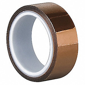 Film Tape,Polyimide,Amber,1/4 In x 5 Yd