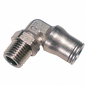 Nickel Plated Brass Male Swivel Elbow, 90°, 12mm Tube Size
