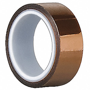 Film Tape,Polyimide,Amber,2 In. x 5 Yd.