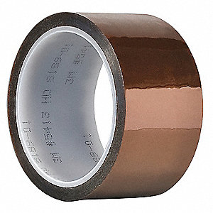 Film Tape,Polyimide,Amber,6 In. x 36 Yd.
