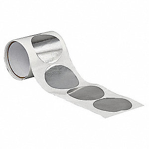 Foil Tape,3 In.,Shiny Silver,PK50