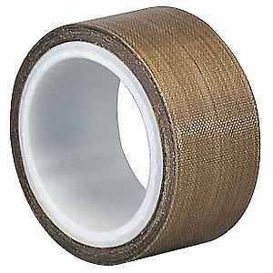 "Industrial Slick-Surface Tape, 1/4"" X 5 yd., 12.00 mil Thick, Brown Coated Cloth, 1 EA"