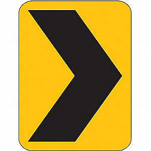 TRAFFIC SIGN,18 X 12IN,BK/YEL,SYM,W