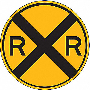 TRAFFIC SIGN,30 X 30IN,30IN,BK/YEL,