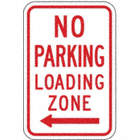 No Parking Loading Zone Signs (With Left Arrow)