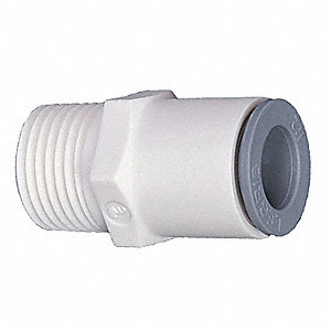 "Nylon Male Connector, 3/8"" Tube Size"