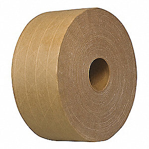 Kraft Paper, Carton Sealing TapeWater-Activated Adhesive, 5.00 mil Thick, 70mm X 450 ft., 1 EA