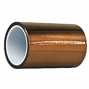 "Amber Dupont Kapton Polyimide Film Tape, 6"" Width, 100 ft. Length, 5 mil Thickness"