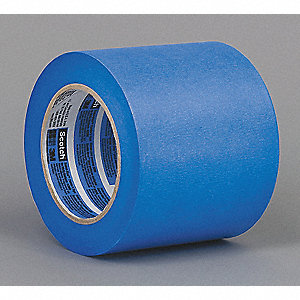 "Paper Painters Masking Tape, Rubber Tape Adhesive, 5.00 mil Thick, 4"" X 60 yd., Blue, 1 EA"