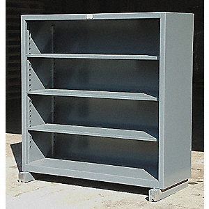 "60"" x 24"" x 60"" Freestanding Steel Shelving Unit, Gray"