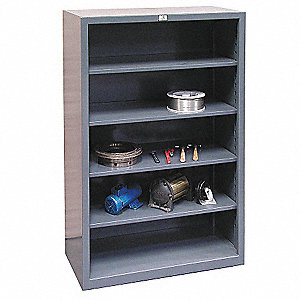 "60"" x 24"" x 72"" Freestanding Steel Shelving Unit, Gray"