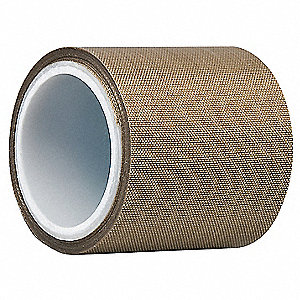 "Light-Duty Slick-Surface Tape, 12"" X 5 yd., 4.50 mil Thick, Brown Coated Cloth, 1 EA"