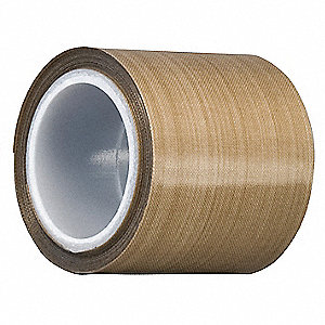 "Light-Duty Slick-Surface Tape, 3"" X 5 yd., 6.80 mil Thick, Brown Coated Cloth, 1 EA"