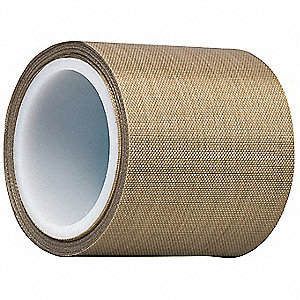 "Light-Duty Slick-Surface Tape, 2"" X 5 yd., 5.60 mil Thick, Brown Coated Cloth, 1 EA"